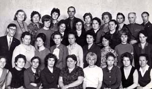 Учителя школы. 1972 год